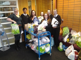 STUDENTS FROM WODENSBORO ORMISTON ACADEMY COLLECTING FOR LOCAL FOOD BANK